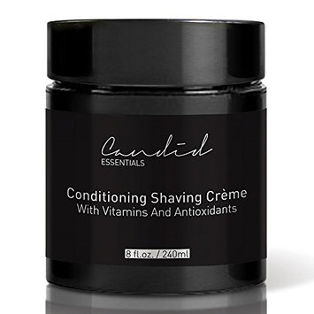 Shaving Cream, Organic & Natural Luxury Crème, 8 fl oz/10 oz net wt, Sensitive Skin Formula, Thick & Rich Skin Care Shave Lotion with Oils, Vitamins & Antioxidants To Moisturize.