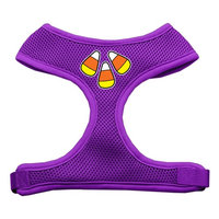 Mirage Pet Products 7006 LGPR Candy Corn Design Soft Mesh Harnesses Purple Large