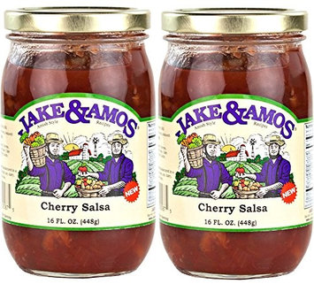 Dv Food Jake & Amos Cherry Salsa - 2 - 16 oz. Jars