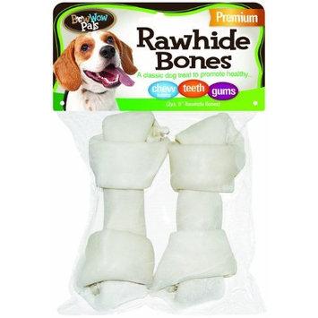 Bow Wow Premium Rawhide Bones, 2-Pack 5-Inch