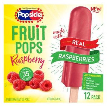 The Original Brand Popsicle Raspberry Fruit Pops - 12ct/18oz