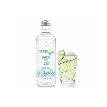Mastiqua Greek Mastiha Flavored Sparkling Water - 6 Bottles - 11 oz. each