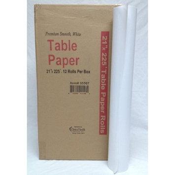 Premium Smooth Exam Table Paper Rolls 21x225, 12 Rolls per case