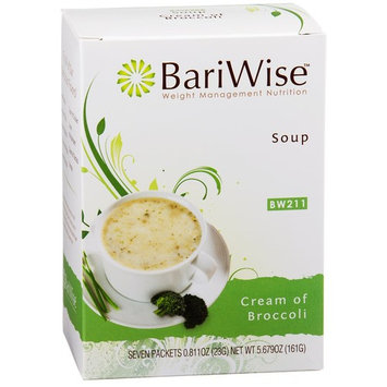 BariWise High Protein Low-Carb Diet Soup Mix - Low Calorie, Fat Free Cream of Broccoli (7 Count)…