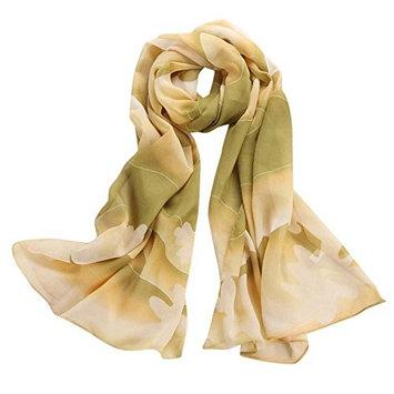 Datework Women's Chiffon Soft Long Wraps Shawl Beach Silk Scarf (A)
