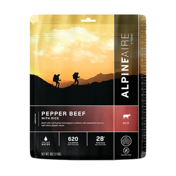 AlpineAire Foods Pepper Beef with Rice Two Servings - Red