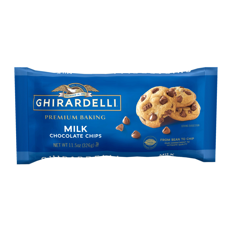 Ghirardelli Milk Chocolate Premium Baking Chips, Chocolate Chips for Baking