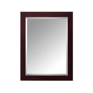 Avanity Modero 24 in. W x 1.3 in. D x 30 in. H Single Framed Wall Mirror in Espresso