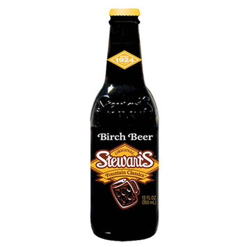 Stewart's Fountain Classics Birch Beer 12 oz Glass Bottles - Pack of 12