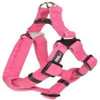 Dogline M8101-7 11-15 L x 0. 63 W inch Comfort Microfiber Step-In Harness, Pink