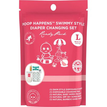 Products on the Go POTG1111 Poop Happens Swimmy Style One Complete Diaper Change Set & Sun Care Large