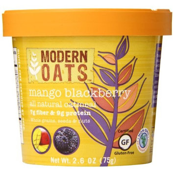 Modern Oats Mango Blackberry Oatmeal 2.6 Ounce (Pack of 12), Gluten Free, Non-GMO, Whole Grain, Vegan, and Kosher, No Known Allergens