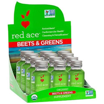 Red Ace 67408CD Organic Beet & Greens Shot Piece of 12 6 per Case