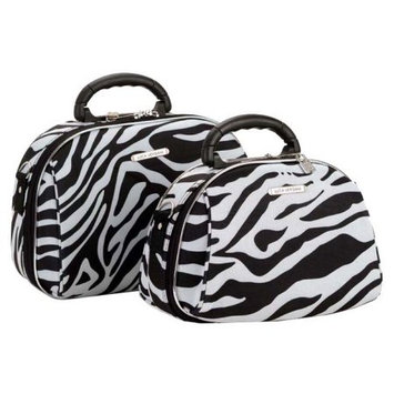 Fox Luggage Rockland Luggage 2 Piece Cosmetic Case Set