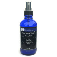 Silver Linings Antimicrobial/Antiseptic Mint Facial Toner/Astringent Cleanser Spray, Alcohol Free for Oily, Dry, Sensitive Skin. Reduce Acne, Shrink Pores, Moisturize and Brighten Complexion. 4 oz