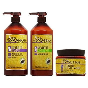 Savannah Shea Butter Shampoo & Conditioner 33.8oz & Masque 16.9oz