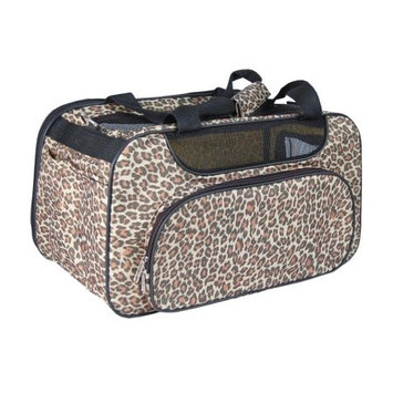 Anima Brown Leopard Bag Carrier Mesh Window For Pet Dog Cat - One Size