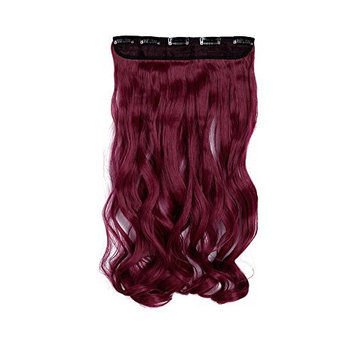 Fashion Long Curly Purple Red 24