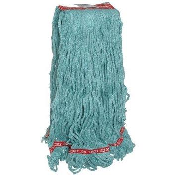 Rubbermaid Commercial FGA11306GR00 Web Foot Wet Mop Head, 1-inch Headband, Large, Green []