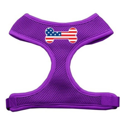 Bone Flag USA Screen Print Soft Mesh Harness Purple Extra Large