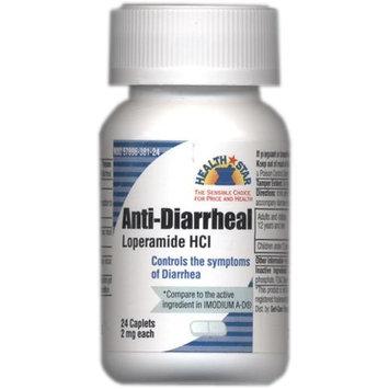 Loperamide HCL Anti Diarrheal 24 caplets controls Diarrhea Compares to Imodium A-D(R)