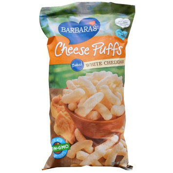 Barbaras Barbara's Bakery, Baked Cheese Puffs, White Cheddar, 5.5 oz (pack of 6)