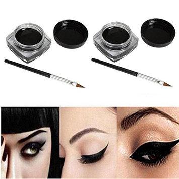 SMTSMT 2017 2 PCS Mini Eyeliner Gel Cream With Brush-Black