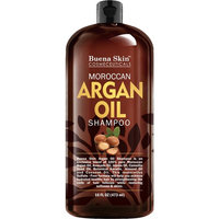 Premium Argan Oil Shampoo - Sulfate Free - Volumizing & Moisturizing, For Men & Women, Curly & Color Treated Hair, Infused with Keratin 16 Oz By Buena Skin