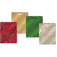 Flomo 1924355 Holiday Leaves Embossed Hot Stamping on Brown Kraft - Case of 240