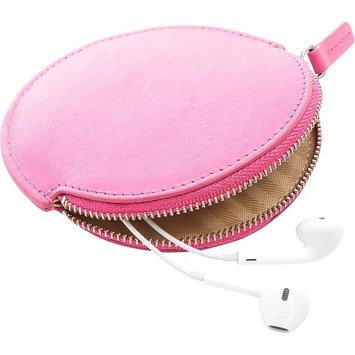 Royce Leather Circular Earbud Travel Case Wild Berry - Royce Leather Headphones & Speakers