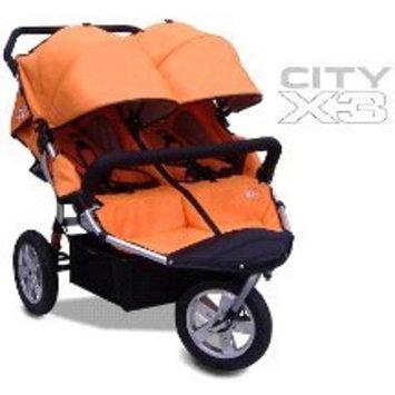 City X3 Double Swivel Stroller Color: Orange