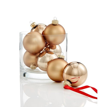 Glass Solid Color Copper Ball Ornaments, Set of 8, Created for Macy's