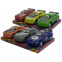 DDI 1902224 7.5 in. Friction Sport Car - 3 Piece Assorted Colors