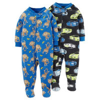 Child of Mine by Carter's Baby Toddler Boy Blanket Fleece Pajamas, 2 Pack