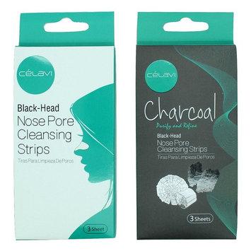 Celavi Nose Pore Cleansing Strips Charcoal & Original Packs 6 Strips Total