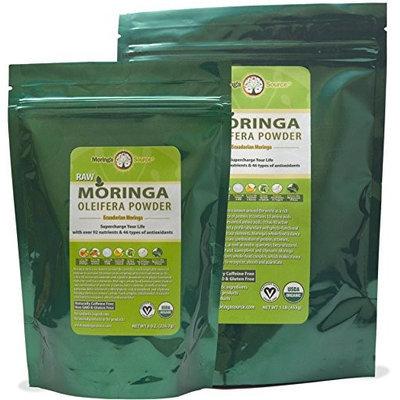 Moringa Source - Moringa Oleifera Raw Leaf Powder - 8 oz.