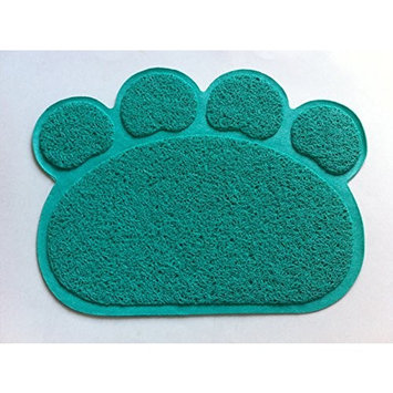 Cat Litter Trapping Mats. For Cat Litter Boxes [Paw Print - Turquoise]