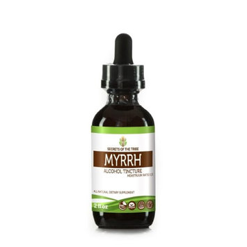 Secrets Of The Tribe Myrrh Tincture Alcohol Extract, Wildcrafted Myrrh (Commiphora myrrha) Dried Gum 2 oz
