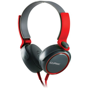 Cliptec Red Roxx Muisc Stereo 3.5mm Wired Volume Control Headset Earphone On Ear Headphone w/Mic