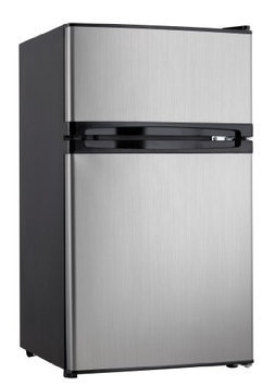 DANBY DUAL DOOR COMPACT FRIDGE WITH FREEZER DCRM31BSLDD