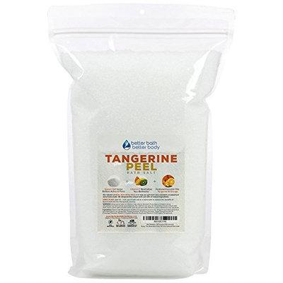 Tangerine Peel Bath Salt 128oz (8-Lbs) - Epsom Salt Bath Soak With Tangerine, Orange, Ylang Ylang Essential Oil Plus Vitamin C - Like Soaking In A Bathtub Filled With Tangerines - Bulk Size