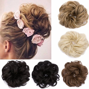 Hair Bun Extensions Wavy Curly Messy Dish Donut Scrunchie Hairpiece Chignons Ponytail Pony Tail Updo Synthetic Hair Extension