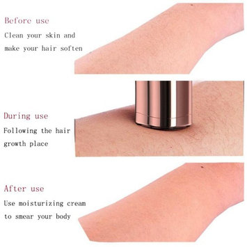 Professional Women's Painless Hair Remover Mini Depilator 18K Gold Plated with LED Light AS SEEN ON TV for Women Lipstick Shaver_Red