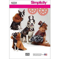 Simplicity Patterns SIMPLICITY DOG COSTUME COATS AND HATS-S-M-L