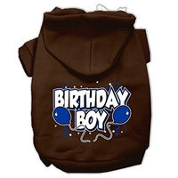 Mirage Pet Products Birthday Boy Screen Print Pet Hoodies Brown Size XL (16)