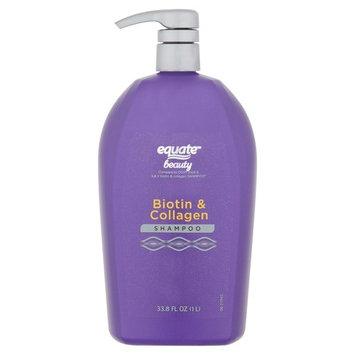 Equate Beauty Biotin & Collagen Shampoo, 33.8 fl oz