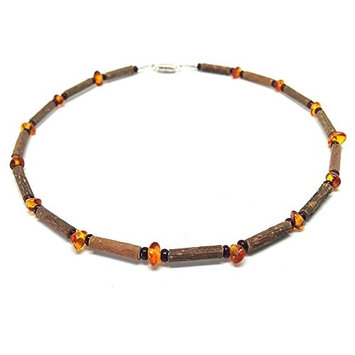Pure Hazelwood Teething Necklace Baltic Amber for Baby/Child Therapeutic B04 (14'' / 36 CM)