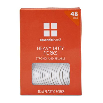 Essential Home Plastic Forks - 48 Count