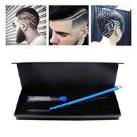 LIGE Hair Styling Tools Hair Cutting Stick For Hair Design/Hair Tattoo with 10 Accessories and 1 Tweezers-Third generation razor pen For Womens,Mens and Children (Blue)