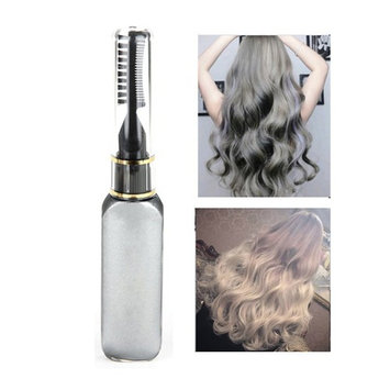 Mascara Hair,Molie Professional Hair Dye Temporary Hair Color Non-toxic Streaks Touch Up Silver